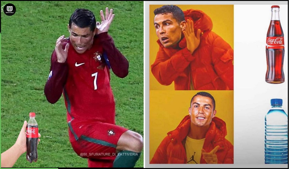 How Cristiano Ronaldo's simple gesture led to an online meme fest. |  BuckToBills